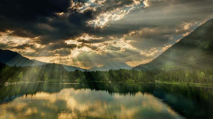 отражение солнца